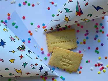joyeux anniversaire biscuit a message