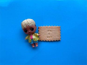 biscuit a message gender reveal personnalisation