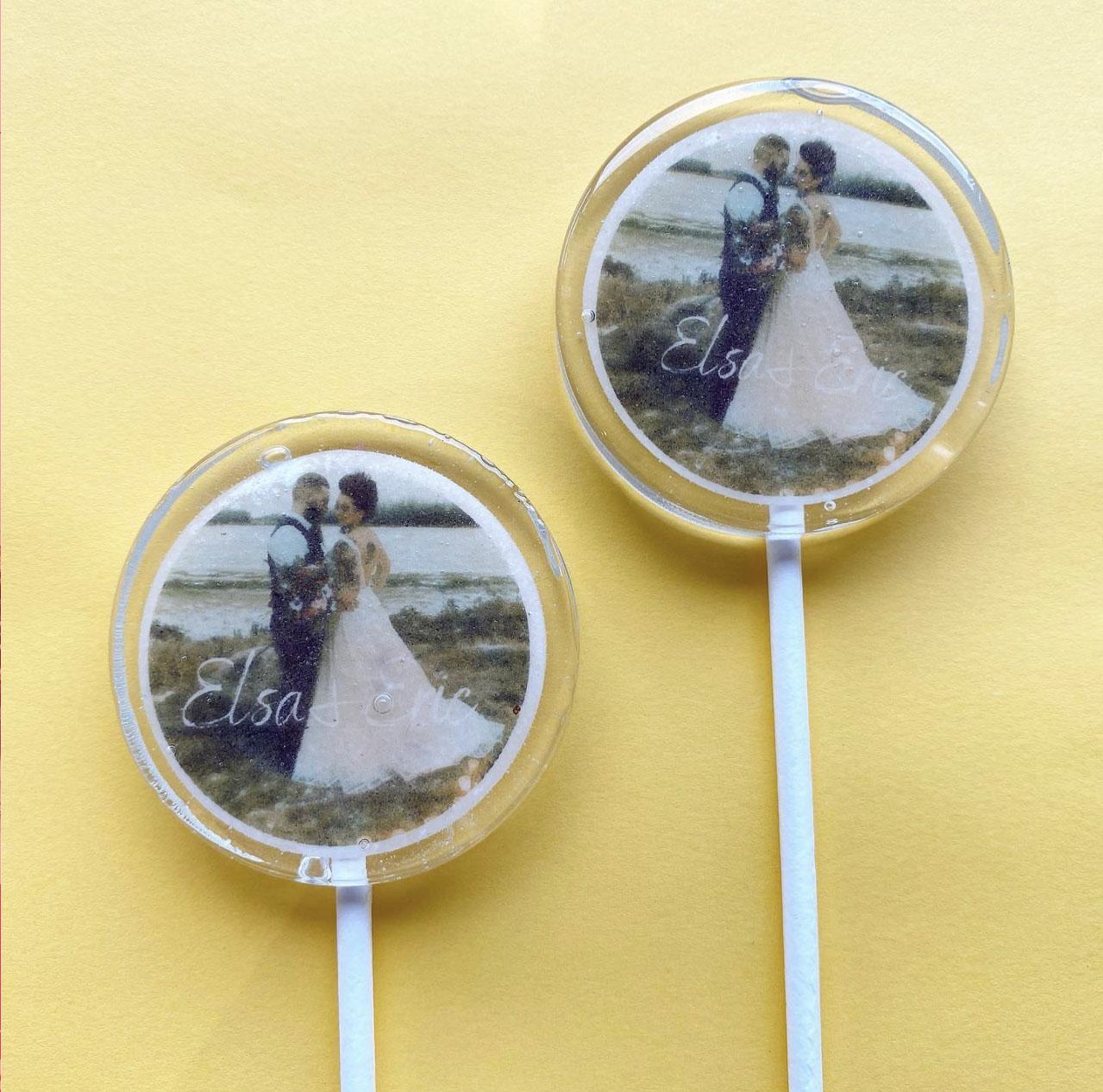 wedding gift lollipop love
